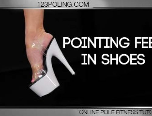 Pointing feet in shoes